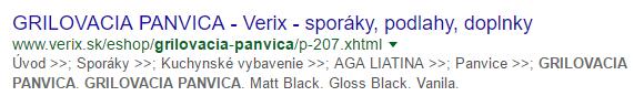 Príklad zlého meta description