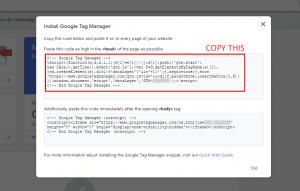 Copy GTM code